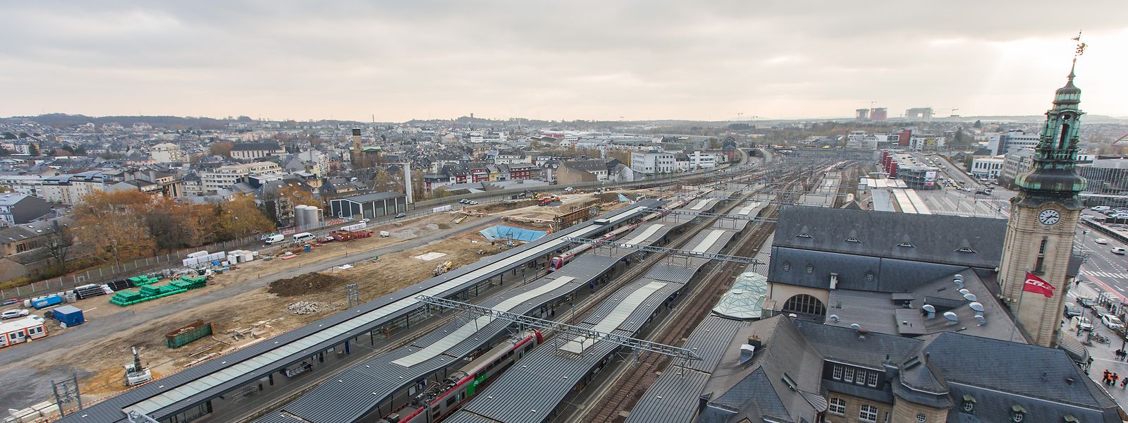 Ausbau Bahnhof Luxemburg.