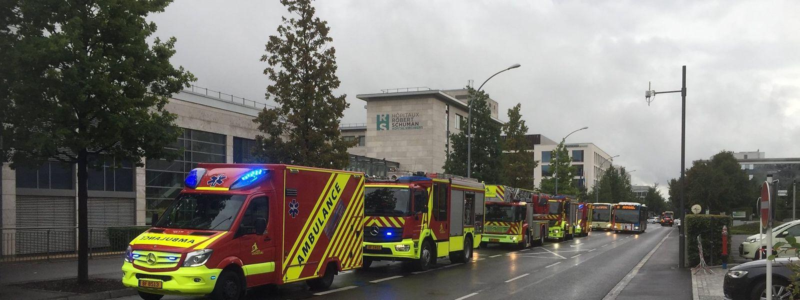 Im Zimmer eines Patienten hatte es am Freitag einen Brand gegeben.