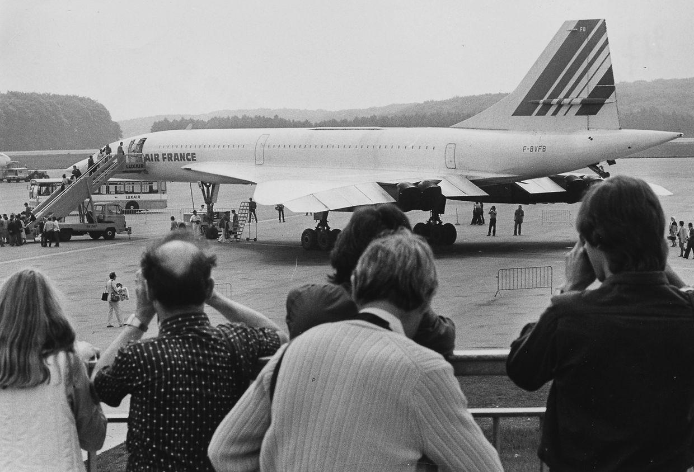 Großes Spektakel auf dem Findel: Im Mai 1982 landet eine Air-France-Concorde im Großherzogtum.