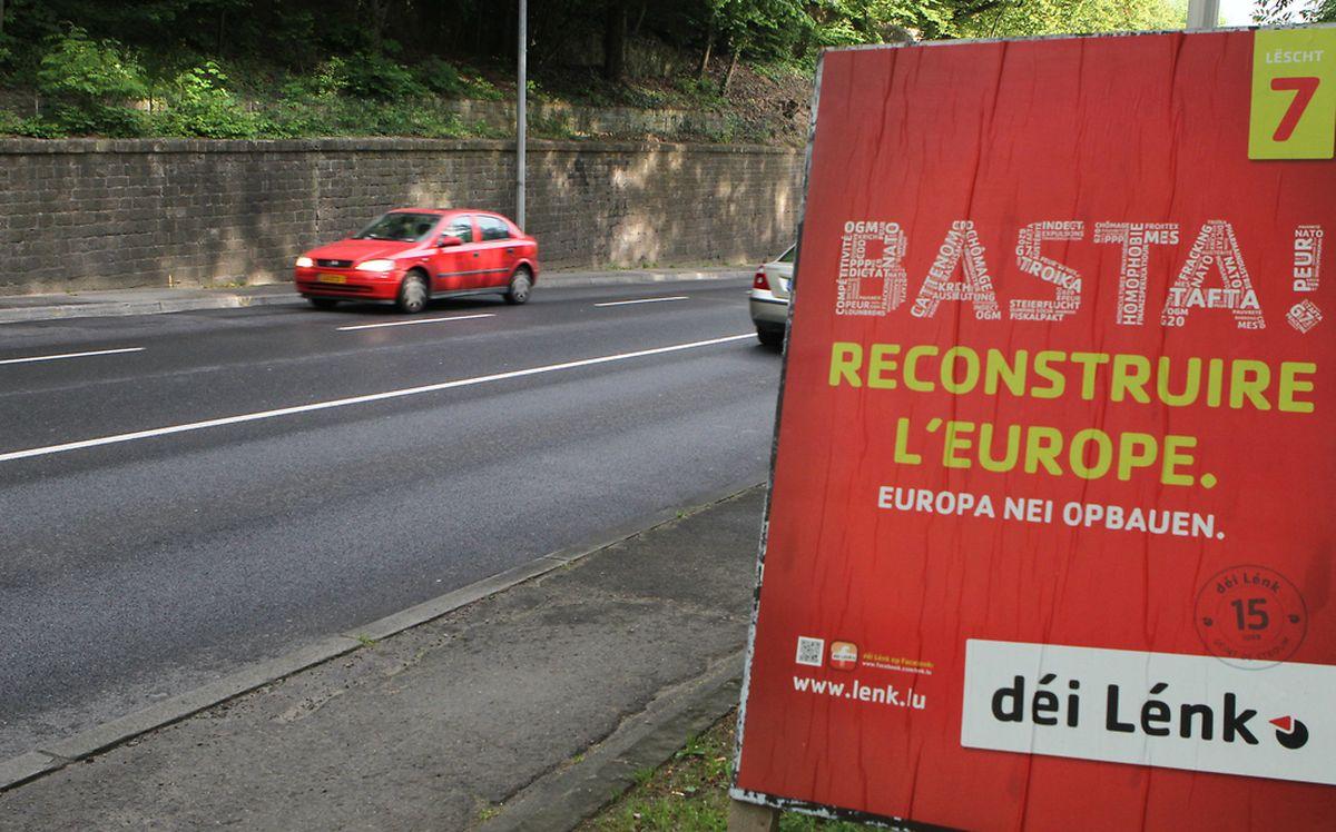 """""""Basta"""" mit dem """"Euro-Kapitalismus"""": Die Europäische Linke könnte am 25. Mai der große Gewinner sein."""