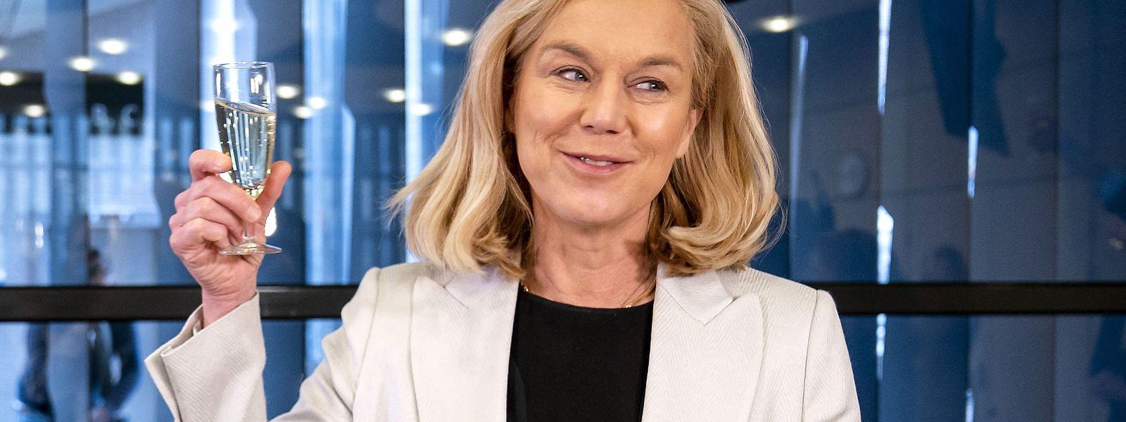 Sigrid Kaag hatte bei der Wahl allen Grund zum Feiern.