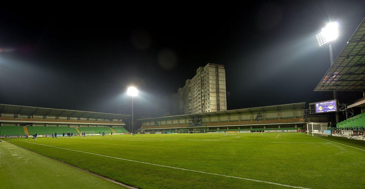 Ein Blick ins Stadion des FC Zimbru Chisinau, wo am Sonntag die Begegnung gegen Moldawien ausgetragen wird.