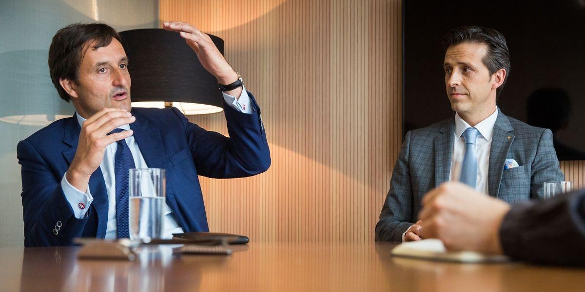 Nicolas Buck, président de la Fedil (à gauche), et Yves Even, associé chez EY (à droite), partagent la même volonté de soutenir l'esprit entreprenarial au Luxembourg.
