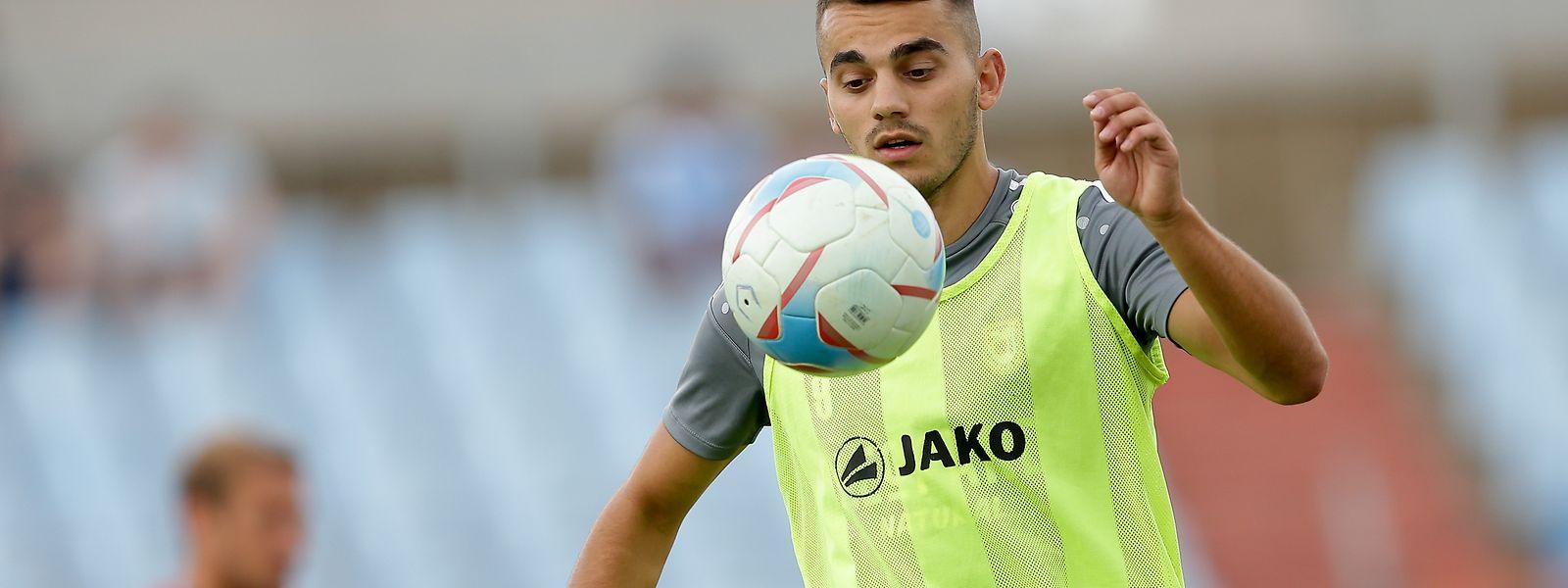 Danel Sinani marcou o golo que poderá ser fundamental para o Dudelange chegar à fase de grupos da Liga Europa.
