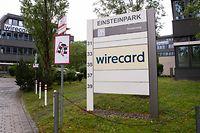 19.06.2020, Bayern, Aschheim: Der Schriftzug von Wirecard ist an der Firmenzentrale des Zahlungsdienstleisters zu sehen. Dem in einen Bilanzskandal verwickelten Dax-Konzern Wirecard droht der Verlust von Milliardenkrediten. Foto: Sven Hoppe/dpa +++ dpa-Bildfunk +++