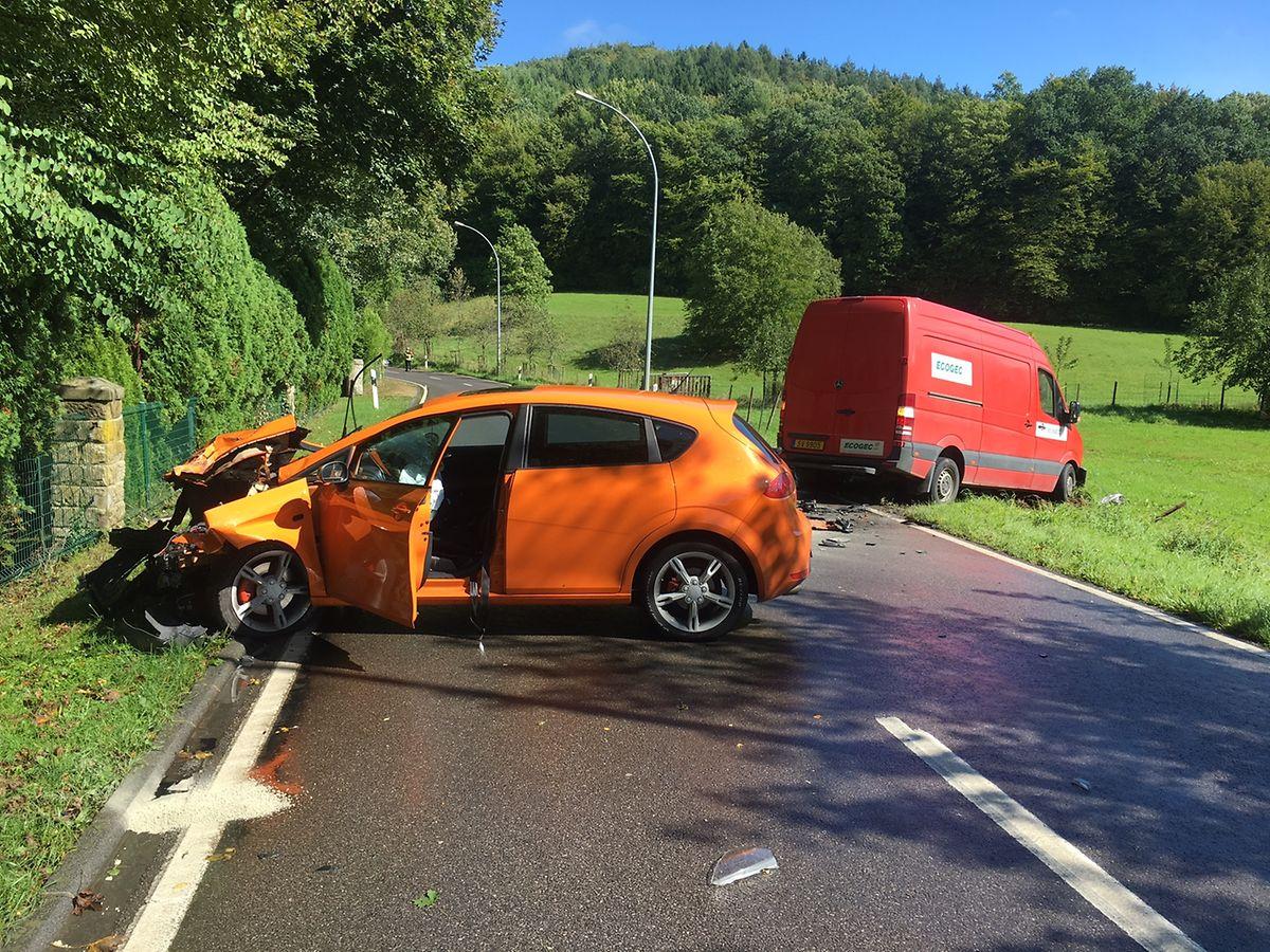 Bei dem Unfall ist eine Person leicht verletzt worden.