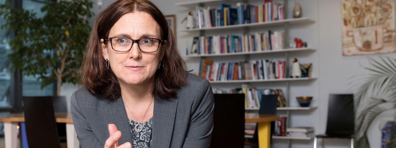 Cecilia Malmström, die EU-Kommissarin für Handel, im Interview.