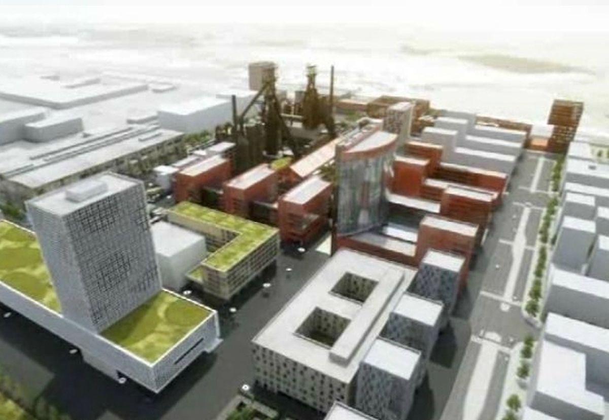 La cité des sciences émerge peu à peu d'une friche industrielle de 120 hectares