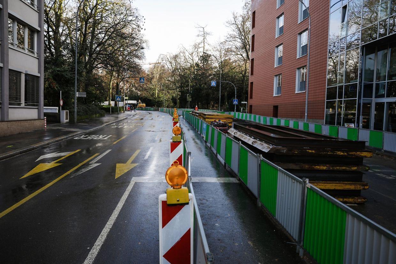 Bereits im Oktober haben die Vorbereitungsarbeiten für die Tram von der Stäreplaz in Richtung Stadtzentrum und im Bahnhofsviertel begonnen.
