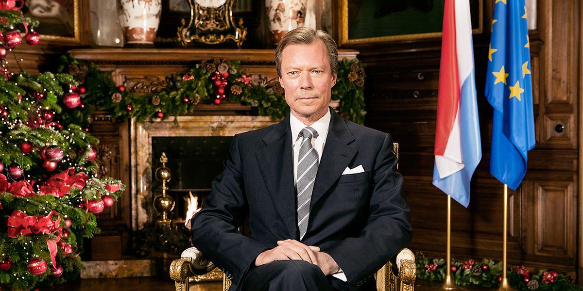 Weihnachtsgrüße von Großherzog Henri am 24. Dezember 2014.
