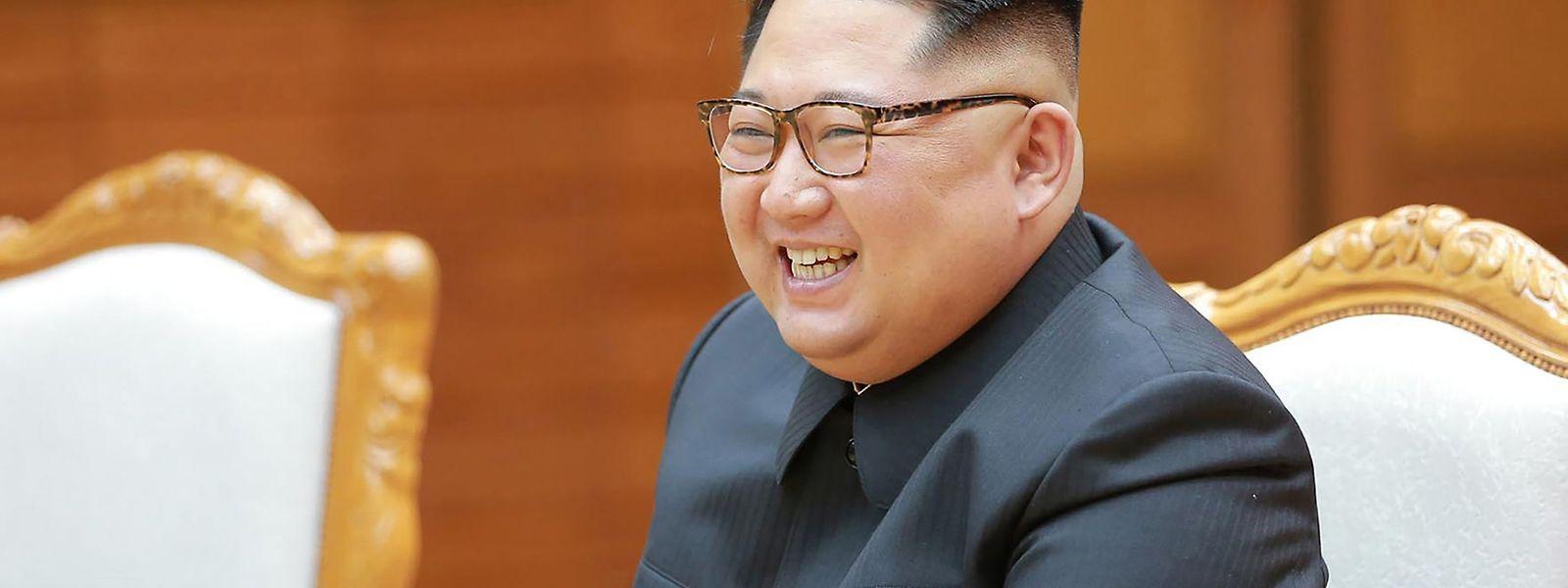 Nordkoreas Machthaber Kim Jong Un sprach am Samstag mit dem südkoreanischen Präsidenten Moon Jae In.