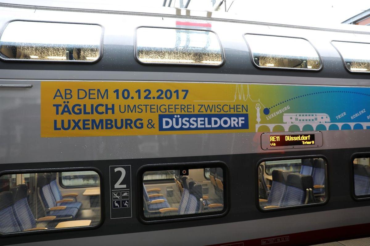 Abfahrt ist um 6.05 Uhr in Luxemburg, Ankunft um 10.09 Uhr in Düsseldorf.