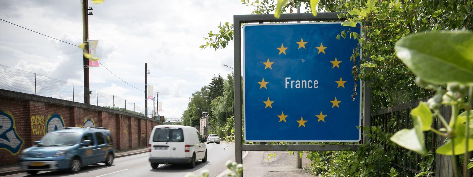 An der Grenze zwischen Esch/Alzette nach Audun le Tiche.