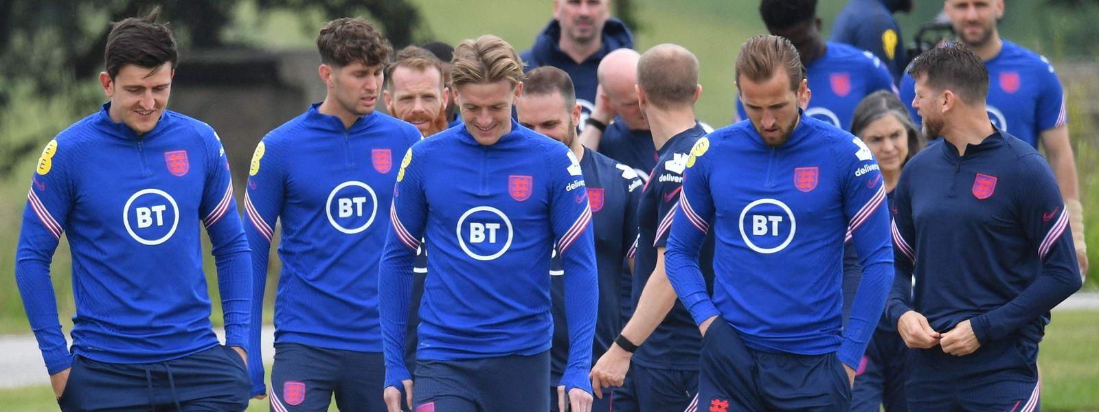 Le défenseur Harry Maguire (à gauche) a été un des éléments moteur de la sélection anglaise dans cet Euro.