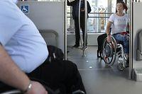 Reportage über öt für behinderte Personen, Multimodalité pour tous, le 19 Septembre 2018. Photo: Chris Karaba