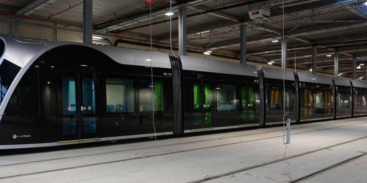 Neun Trams wurden inzwischen aus der Fabrik in Saragossa geliefert. Auf der Strecke Luxexpo-Rout Bréck sind deren jeweils sechs im Einsatz.