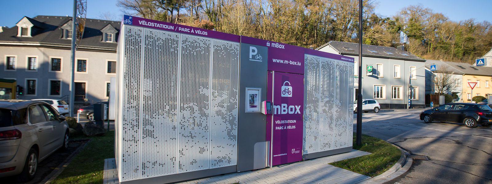 Die mBox für Fahrräder in Hesperingen.