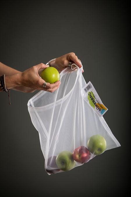 Le «Superbag» peut contenir des fruits et légumes mais aussi des fruits secs.