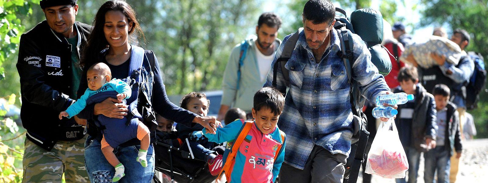 Ungarn will Flüchtlinge, wie hier an der kroatisch-ungarischen Grenze, gleich nach der Einreise internieren