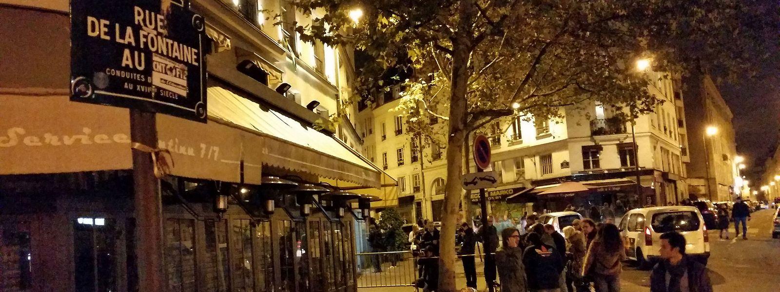 Une photo prise l e 14 novembre, au lendemain de l'assaut: le bar La Bonne Bière s'apprête à reprendre vie.