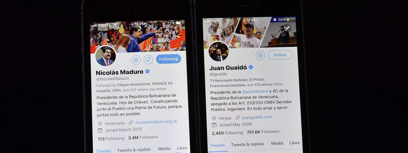 Auf Twitter hat Venezuela aktuell zwei Präsidenten.