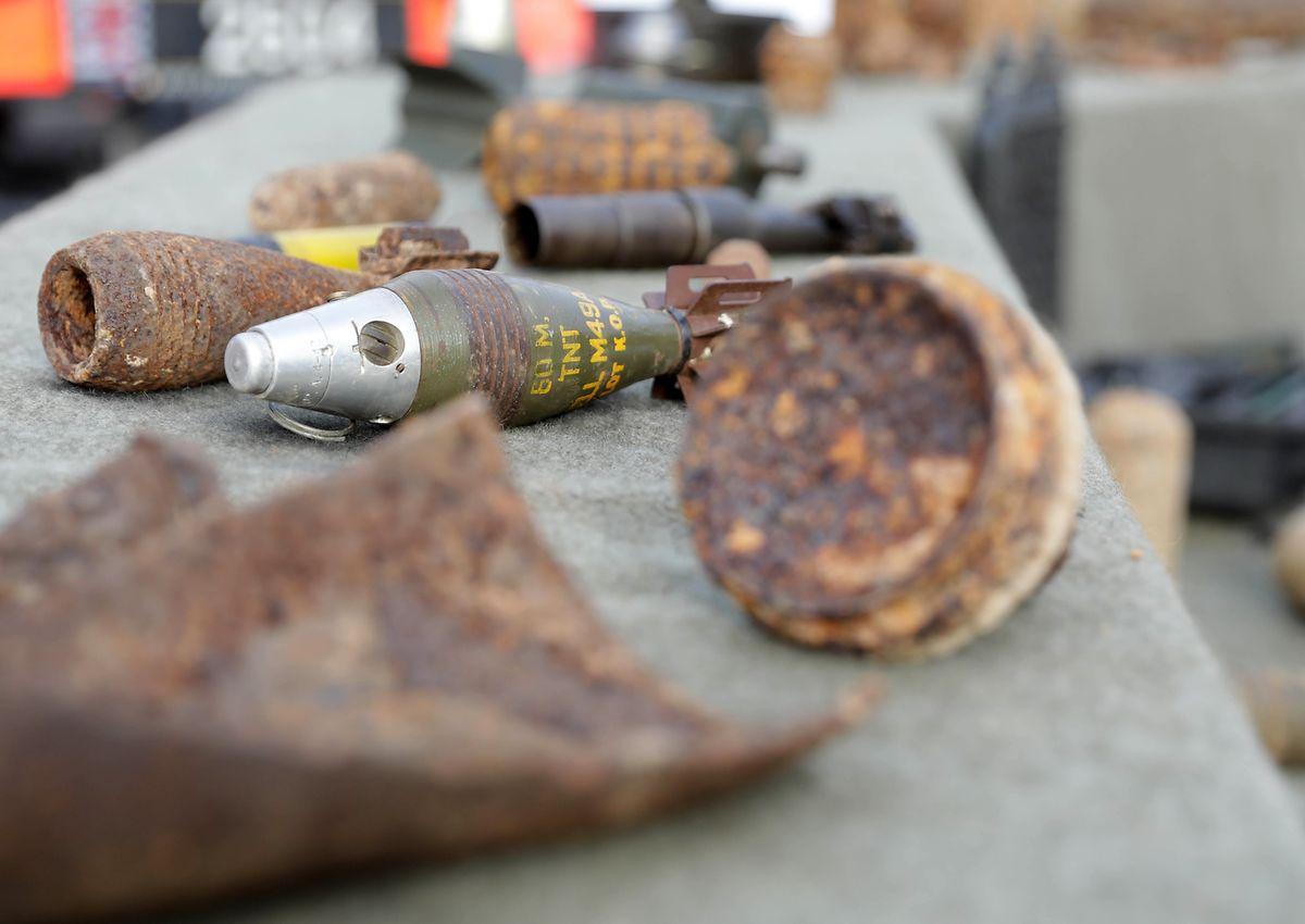 Etwa 300 Mal im Jahr bergen die Mitglieder des Service de déminage in Luxemburg Munitionsreste und Blindgänger aus beiden Weltkriegen.