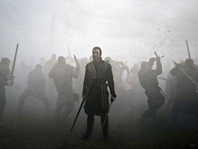 Macbeth (Michael Fassbender) mitten im Kampf