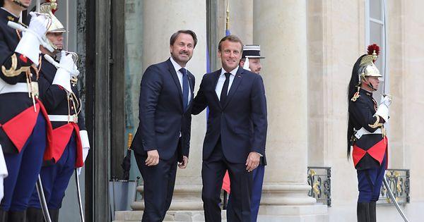 Premier Ministre du Luxembourg, Xavier Bettel reçu par Emmanuel Macron
