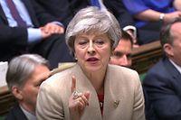 dpatopbilder - 29.03.2019, Großbritannien, London: Theresa May, britische Premierministerin, spricht im Unterhaus während einer Brexit-Debatte. Das britische Parlament stimmt erneut über das EU-Austrittsabkommen ab. Foto: House Of Commons/PA Wire/dpa - ACHTUNG: Nur zur redaktionellen Verwendung und nur mit vollständiger Nennung des vorstehenden Credits +++ dpa-Bildfunk +++