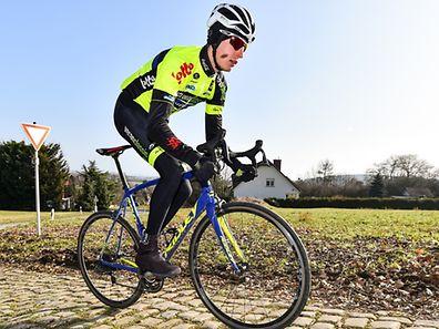 Alex Kirsch beim Training in Luxemburg.