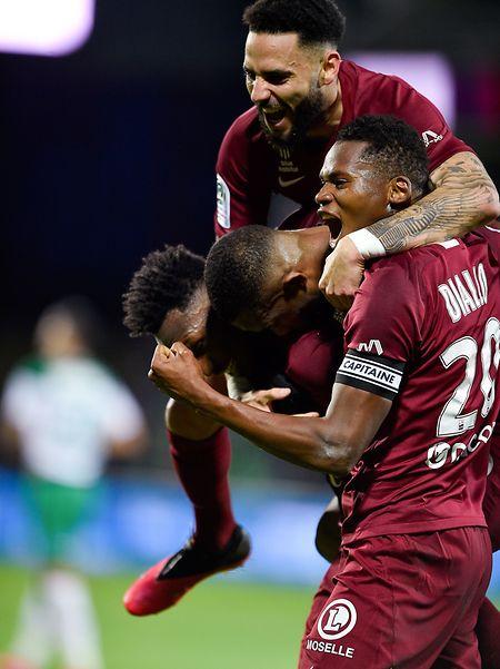 Toute la joie des Messins lors de la victoire (3-1) contre Saint-Etienne, dimanche