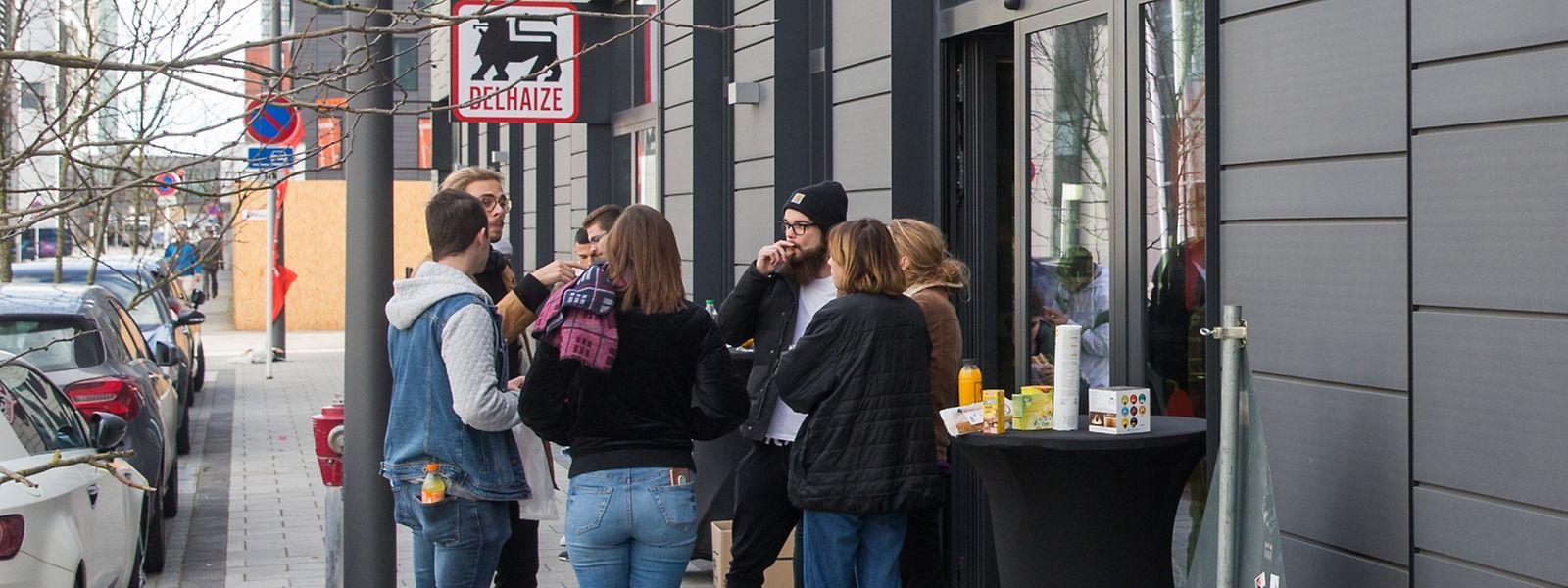 """Der """"Studentensupermarkt"""" unweit des  klassischen Delhaize in Belval."""