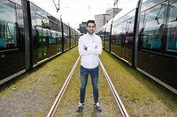 Lokales, Kirchberg, Tiago Ferreira, Lux Tram, LuxTram, Trambahn, Foto: Anouk Antony/Luxemburger Wort