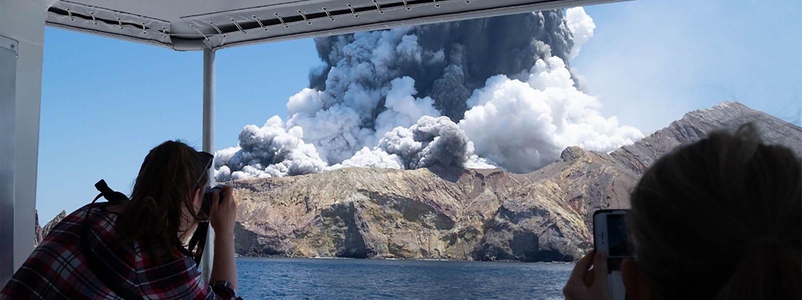 Der Vulkan auf White Island, kurz nach dem Ausbruch.