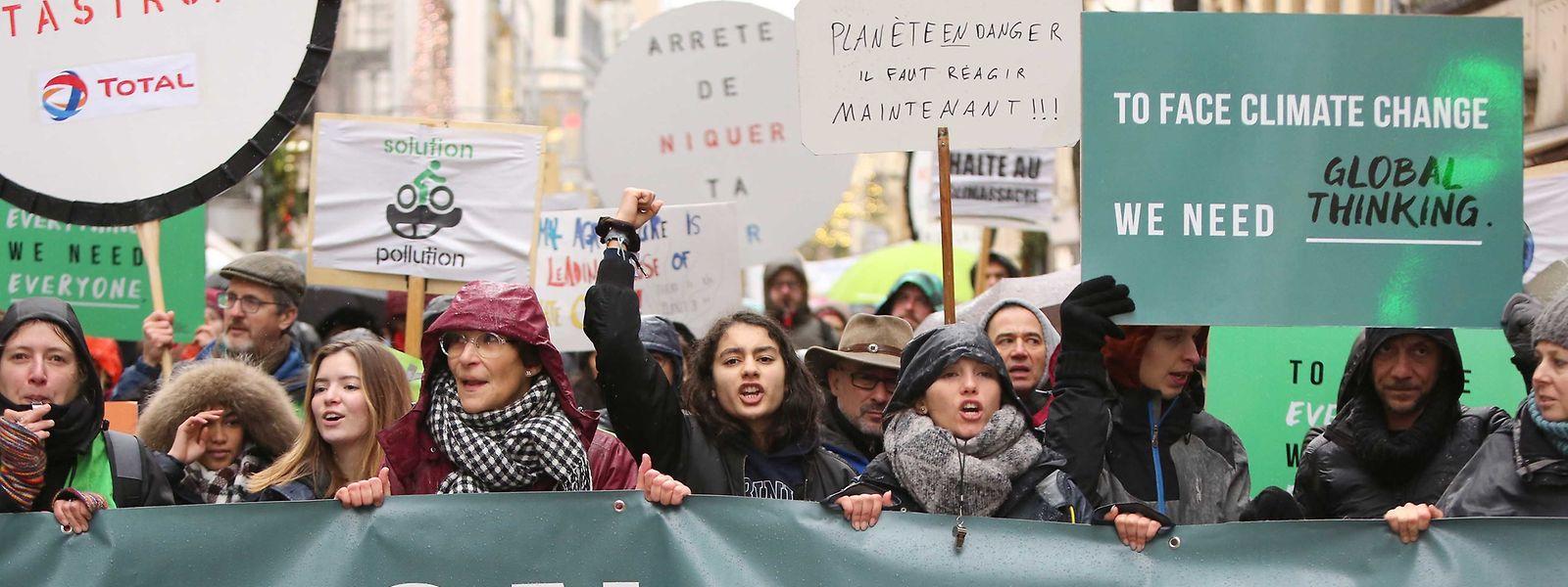 """""""Marche pour le climat"""" am 8. Dezember in der Stadt Luxemburg."""