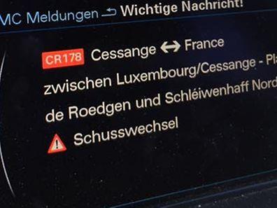 Diese Meldung erschien auf der N7 im Navi-Display.