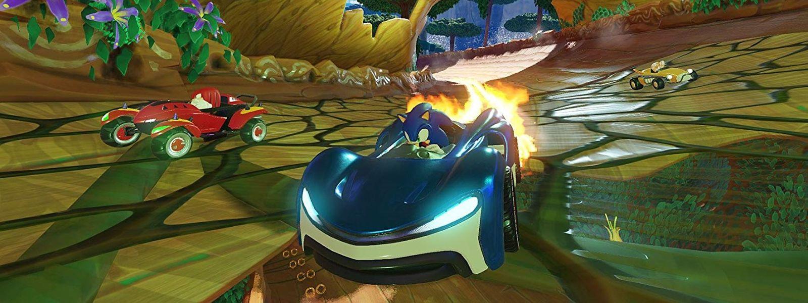 """Bunt, spaßig und abgedreht: Bei """"Team Sonic Racing"""" wird Teamwork ganz groß geschrieben. Das Spiel ist erhältlich für Xbox One, PS4, Switch und PC."""