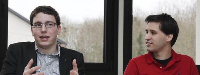 Sven Clement (links) und Jerry Weyer von der Piratenpartei.