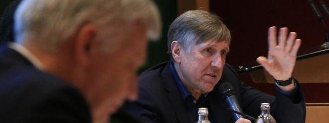 François Bausch et Claude Wiseler en février 2018. Les Verts et le CSV sont les partis les plus en vue par les électeurs pour former une coalition au terme des élections législatives du 14 octobre prochain.