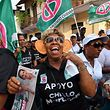Anhänger des Präsidentschaftskandidaten Romulo Roux bei einer Wahlkampfveranstaltung in Panama City.