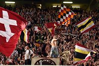 Les supporters du FC Metz / Fussball Ligue 1 France, 37. Spieltag, Saison 2015-2016 / 01.05.206 /  FC Metz – FC Tours / Stade Saint Symphorien, Metz France / Photo : Michel Dell'Aiera