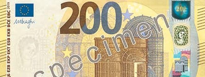 Les nouveaux billets de 100 et 200 euros n'auront plus la même taille: ils adopteront celle du billet de 50, pour des raisons pratiques.