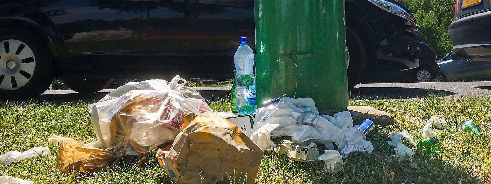 Vor allem im Sommer landet viel Müll auf dem Boden, statt im Mülleimer.