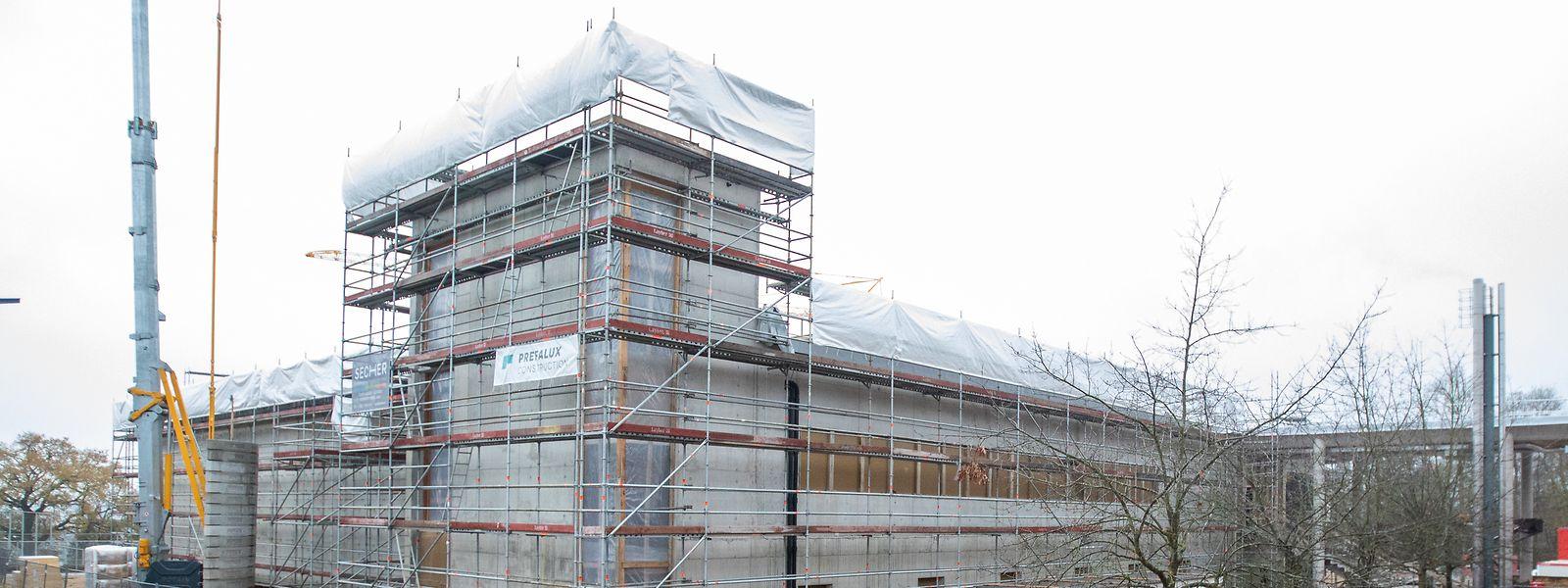 Auf dem Holleschbierg entsteht eine neue Sporthalle.