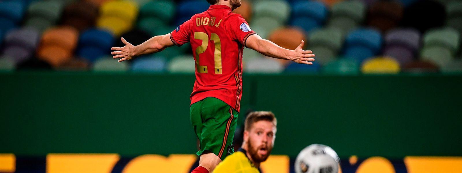 Diogo Jota teve uma noite para recordar em Alvalade, ao marcar dois golos frente à Suécia, em jogo do grupo 3 da Liga A das Nações.