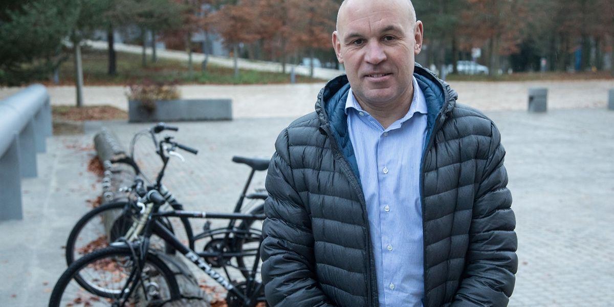 Romain Mayer hat dank der Biklio-Kampagne ein Fahrrad gewonnen.