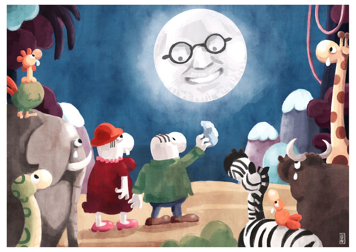 Hommage des LW-Zeichners Antoine Grimée an den verstorbenen Cartoonist Mordillo.