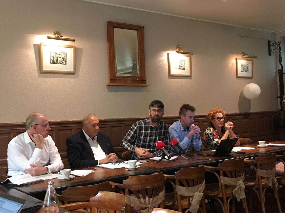 LSAP, Déi Lénk et DP ont tenu conférence de presse commune, ce mercredi, pour demander des éclaircissements au bourgmestre de Differdange.