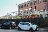 Lokales,Armee errichtet Unterkünfte in Strassen. hier: CHL Strassen.Foto: Gerry Huberty/Luxemburger Wort