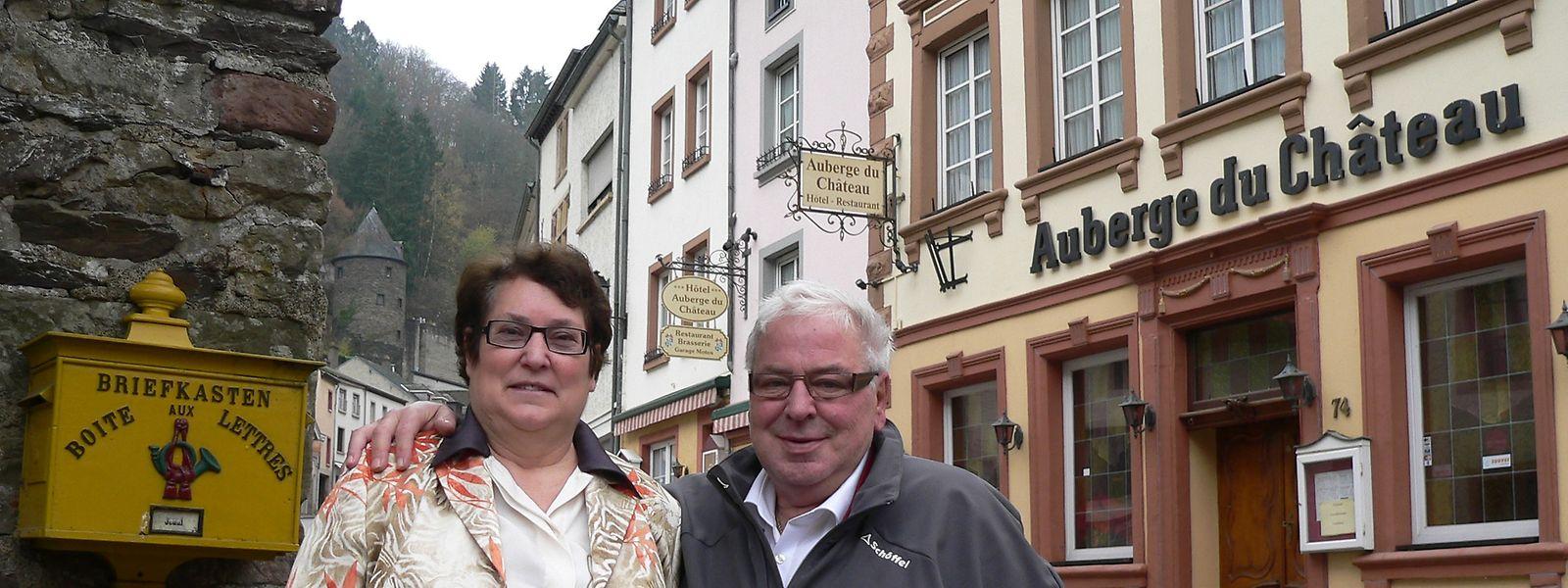 """Seit 45 Jahren verheiratet: Jean und Maria Nelissen-Beckers widmeten einen Großteil ihres Lebens ihrer """"Auberge du Château""""."""